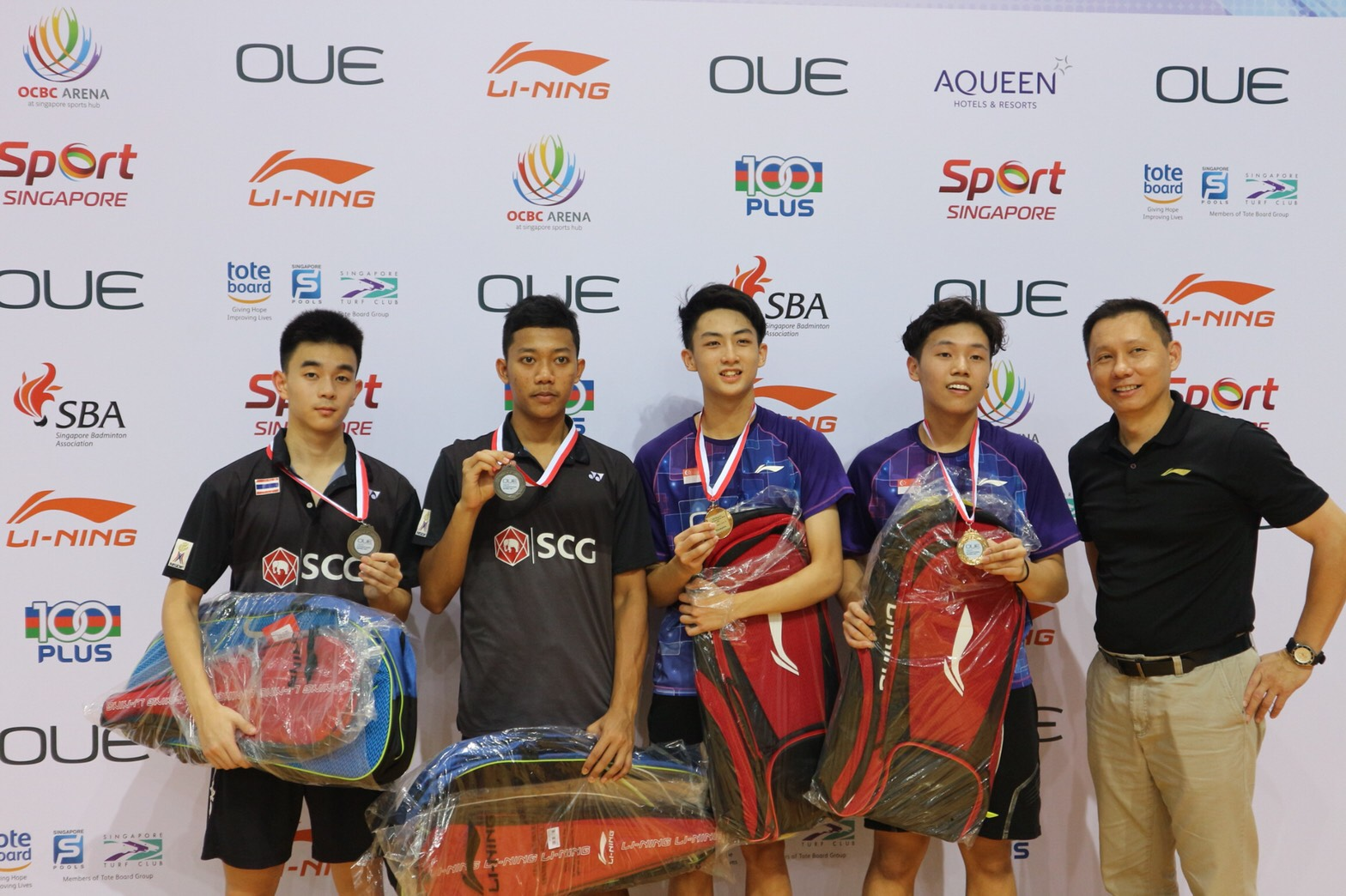 ไทยคว้าแชมป์ OUE Singapore Youth International Series 2017