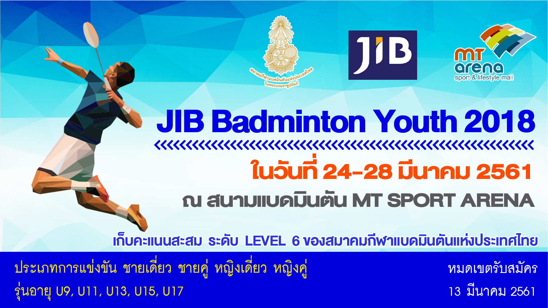 JIB BADMINTON  YOUTH  2018